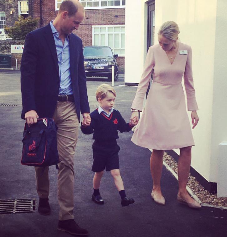Prințul George, în prima zi de școală. De ce a lipsit Kate Middleton de la festivitate