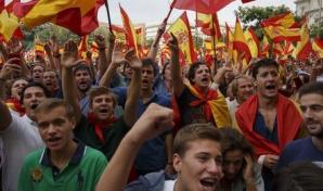 Manifestații în MAdrid, pentru unitatea Spaniei