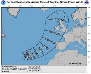 ALERTĂ: Furtuna tropicală Ophelia a devenit uragan şi se îndreaptă spre Europa