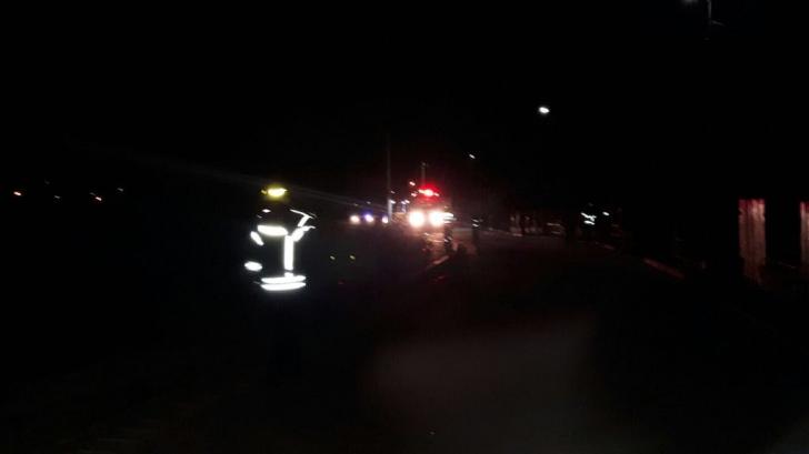 Pericol de explozie în gara din Breaza. Un vagon cu nitrat de amoniu, ÎN FLĂCĂRI!