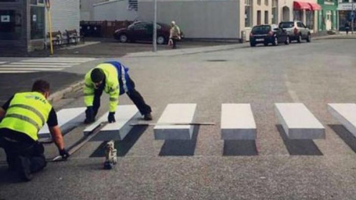 Treceri de pietoni 3D pentru a-i încetini pe șoferii vitezomani