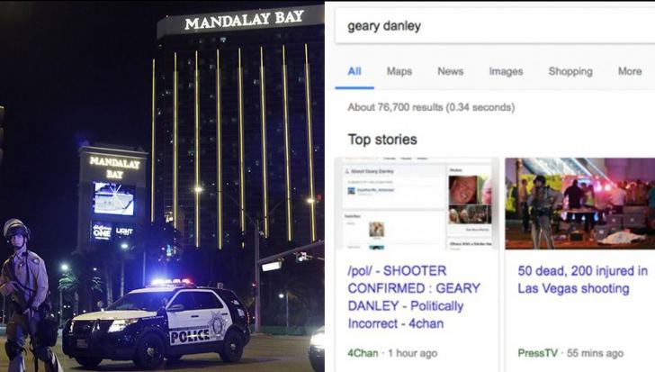 Algoritmul Google și un site de troli au aruncat vina masacrului din Las Vegas pe un nevinovat