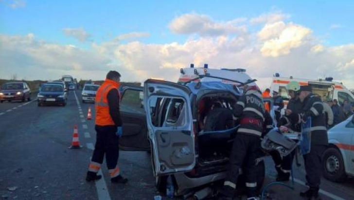 Grav accident lângă Timișoara, cinci oameni la spital (VIDEO)