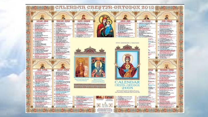 Calendarul bisericesc pentru anul 2018 a fost tipărit