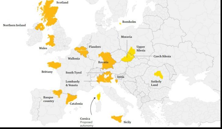 România,pe cea mai PERICULOASĂ hartă a Europei, a ţărilor cu probleme de suveranitate şi teritoriale