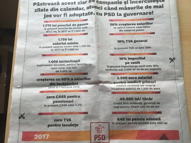 Îndrăzneşte să crezi. Ce a promis PSD în acest ziar de campanie. Şi cum nu s-a ţinut de cuvânt