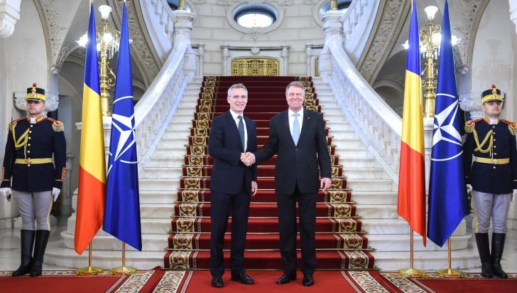 """Iohannis şi Stoltenberg, declaraţii la Cotroceni: """"NATO este o alianță care se ține de promisiuni"""""""