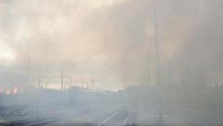 Incendiu în Gara Breaza, la un vagon de tren încărcat cu nitrat de amoniu.Pericolul a fost înlăturat