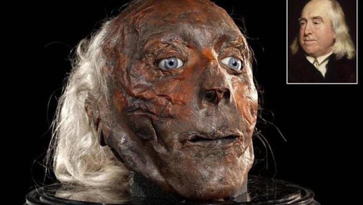 FOTO. Capul mumificat al unui filosof decedat în secolul al XIX-lea, expus la Londra