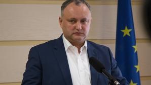 Igor Dodon consideră inadmisibile încercările de a legifera limba română ca limbă oficială