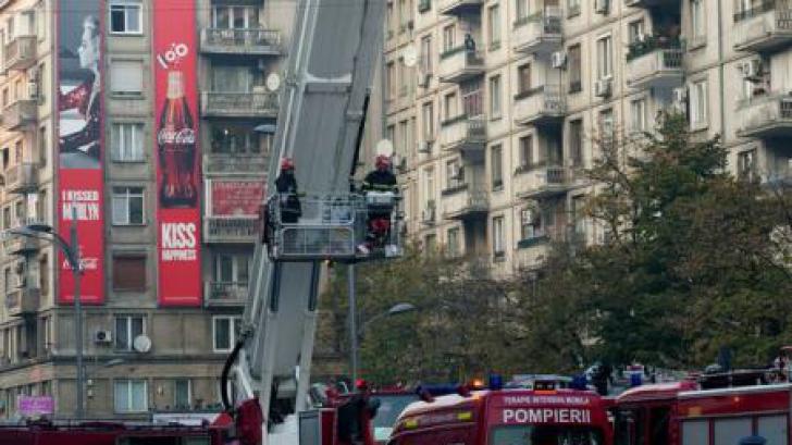 Incendiu puternic în Capitală. 11 persoane au fost evacuate