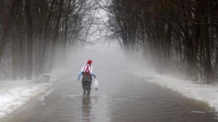"""Vine potopul. Previziuni sumbre pentru iarna aceasta: """"Apa țâșnea pur și simplu din Pământ"""""""