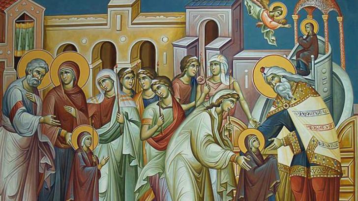 Sărbătoare 21 noiembrie. Intrarea Maicii Domnului în Biserică