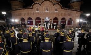 Regele Mihai, înhumat la Curtea de Argeş. FOTO: INQUAM PHOTOS - George Călin