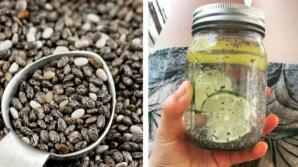 Apă cu seminţe de CHIA - combinaţia perfectă pentru un abdomen plat
