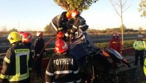 Accident cu trei maşini pe Splaiul Independenţei în Bucureşti