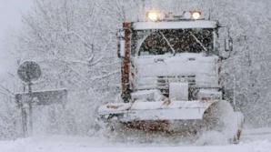 ALERTĂ METEO. Cod GALBEN de NINSORI abundente: vânt puternic, strat de zăpadă consistent