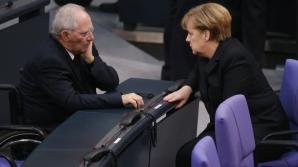 Wolfgang Schaeuble și Angela Merkel