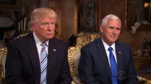 Donald Trump, alături de vicepreședintele Mike Pence
