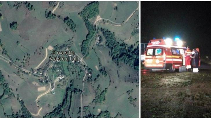 Accident ȘOCANT în Alba: Un mort și doi răniți, după ce o mașină s-a răsturnat într-o râpă