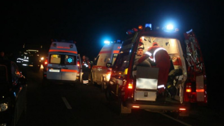 Accident grav lângă Sibiu: șapte persoane au fost rănite