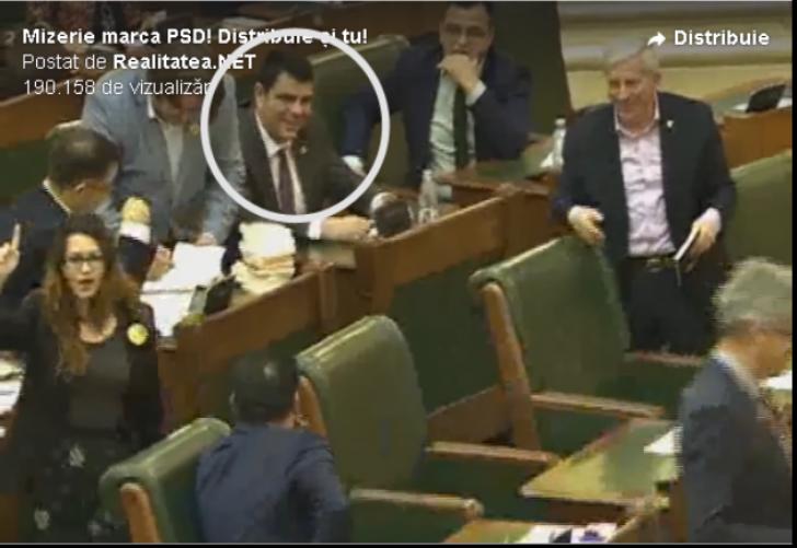 Cine este senatorul PSD care râdea după ce Florina Presadă a fost înjurată