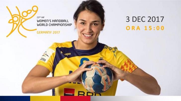 România înscrie a doua victorie la Campionatul Mondial de Handbal feminin