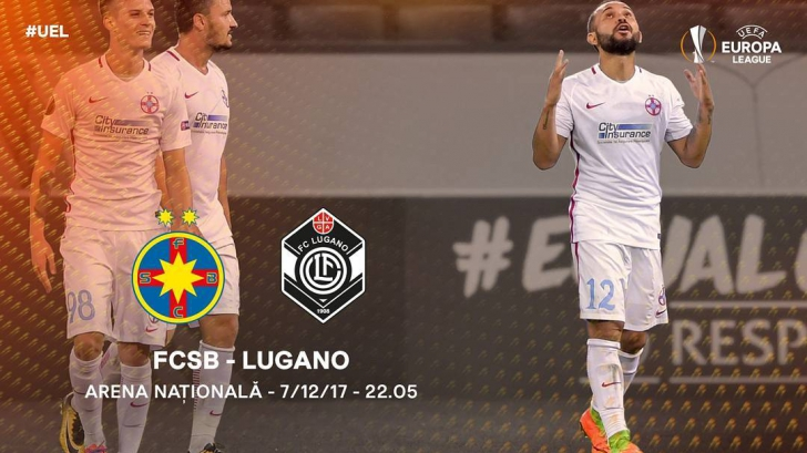 LIVE-VIDEO// FCSB (Steaua) LUGANO, Europa League
