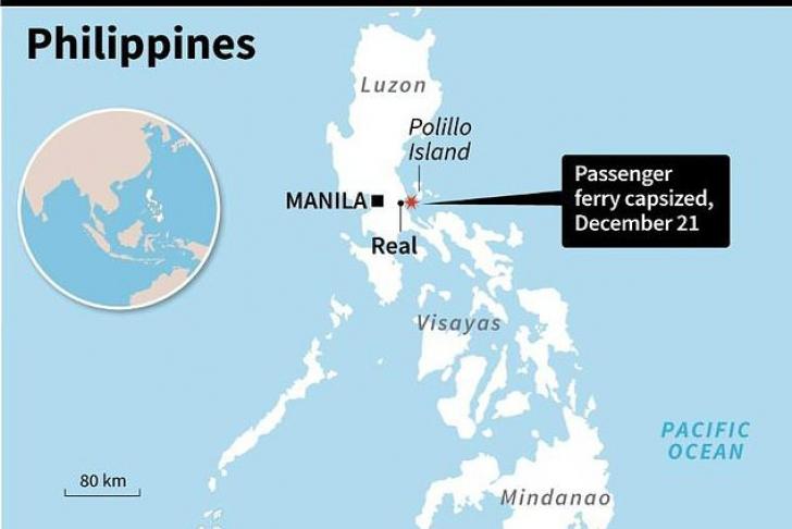 Un feribot cu 251 de oameni la bord s-a răsturnat. Cel puţin 3 morţi