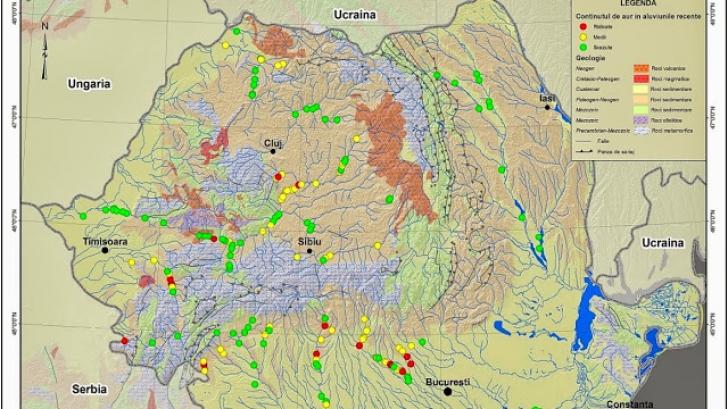 Harta Comorilor Apele Romaniei In Care Poți Să Găsești Aur