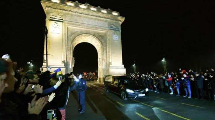Mihai Mărgineanu condamnă gestul bărbatului care pedala lângă cortegiul Regelui Mihai.