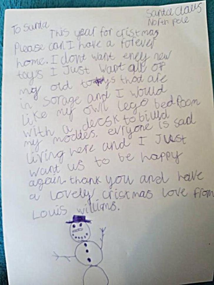 Scrisoarea unui băiețel de 9 ani, care îți înmoaie inima