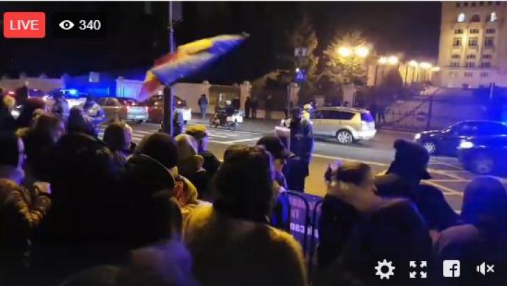 Noi proteste la București. Mobilizare masivă a jandarmilor