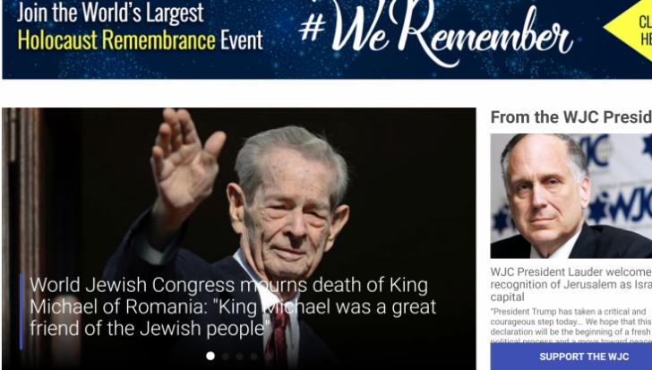 Cel mai terifiant omagiu: Evreii ne fac publere la moartea Regelui