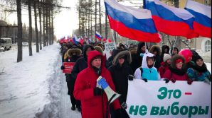 Protest la Moscova. FOTO: Moscow Times