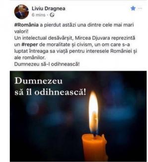 Dragnea, GAFĂ COLOSALĂ: l-a încurcat pe Neagu Djuvara cu MIRCEA Djuvara