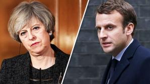 Macron şi May au semnat un tratat privind controlul imigraţiei la frontiera comună
