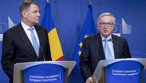 Klaus Iohannis s-a întâlnit cu președintele Comisiei Europene Jean-Claude Juncker
