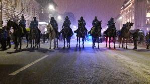 MARŞUL SPERANŢEI. Bătaie la Universitate între jandarmi şi protestatari. S-au adunat 15000 de oameni / Foto: Realitatea.net