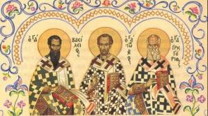 SFINŢII TREI IERARHI: Vasile cel Mare, Grigore Teologul si Ioan Gura de Aur