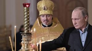 Vladimir Putin, la slujba de Crăciun