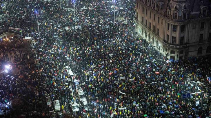 Euronews și-a pus la cover pe Facebook o fotografie de la protestele de sâmbătă din România