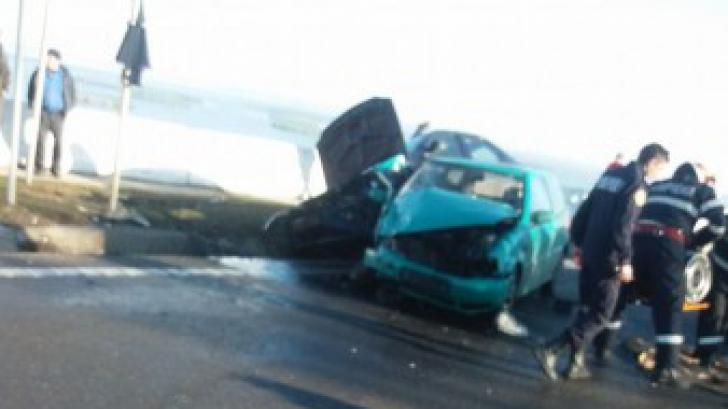 Elicopterul SMURD a fost solicitat în urma unui accident rutier din Mihăilești