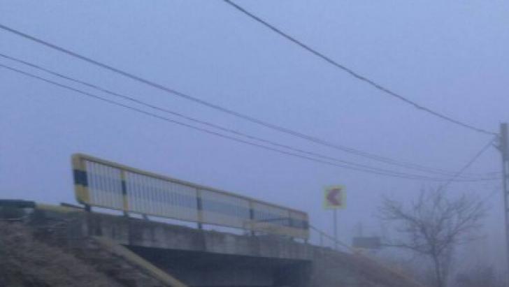 Accident în Tulcea: o mașină a sărit de pe un pod. Uite ce s-a întâmplat cu șoferul