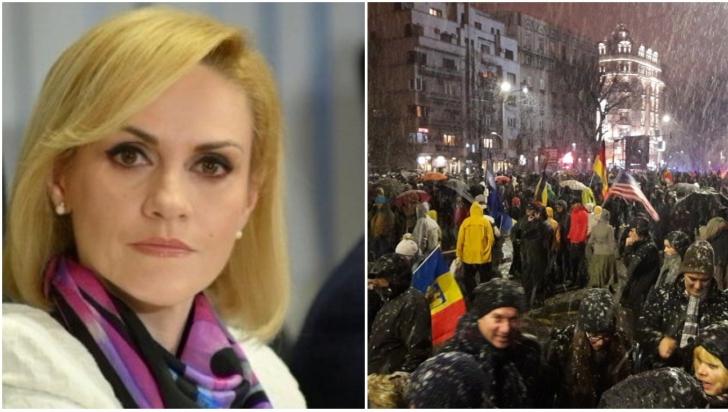 Gabriela Firea este nemulțumită de comportamentul protestatarilor