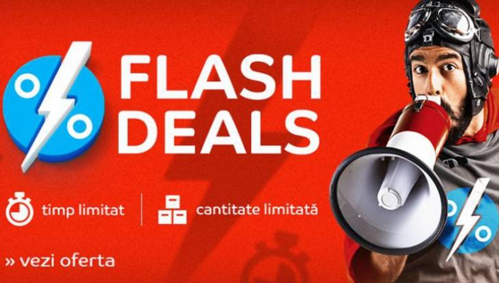 eMAG Flash Deals – 3 ore cu reduceri imense! Promotia fulger cea mai de succes a revenit