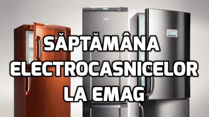 eMAG Saptamana electrocasnicelor – Cea mai mare promotie de la inceputul anului 2018