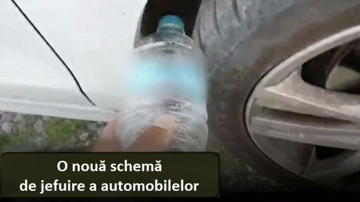 Verifică roata când urci în mașină. Vezi o sticlă de plastic acolo? Atunci ai putea fi în pericol