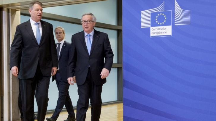 Klaus Iohannis și Jean Claude Juncker