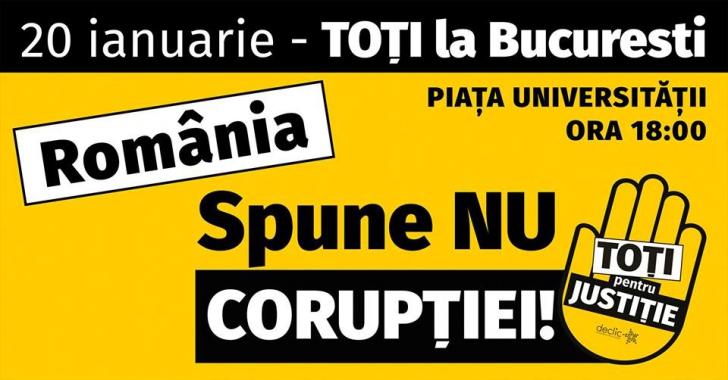 Protest în București pe 20 ianuarie